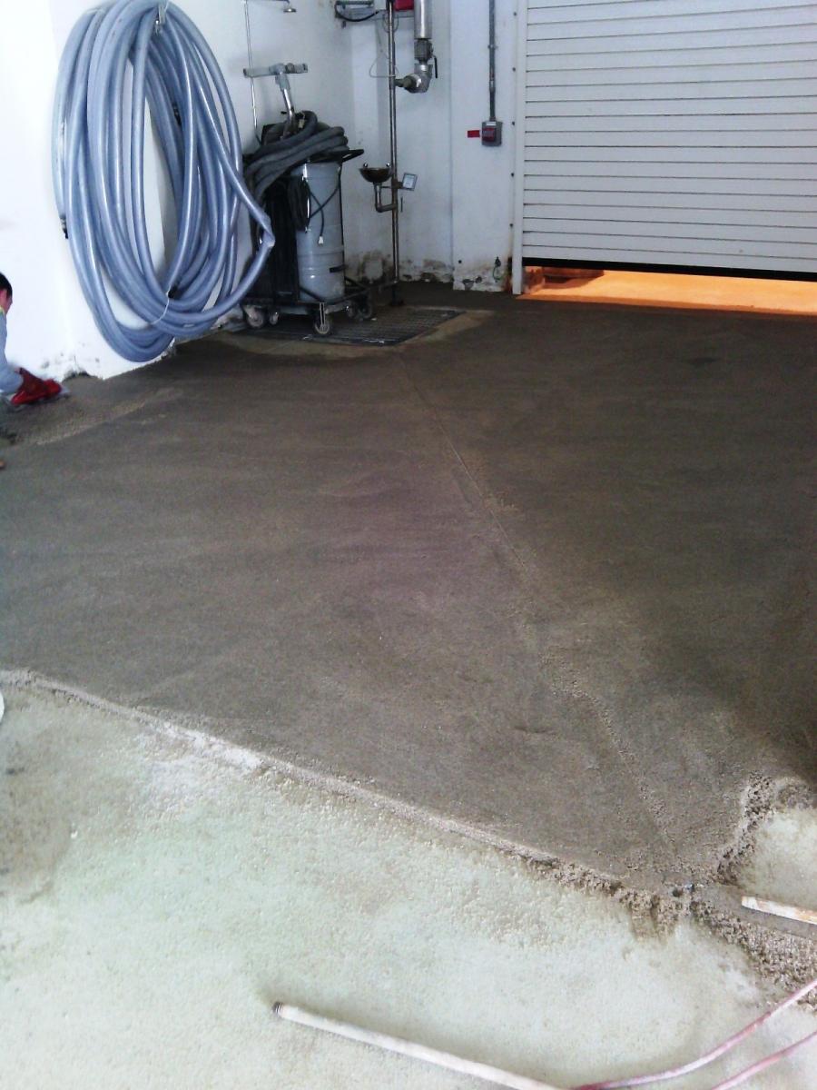Reparation sol industriel